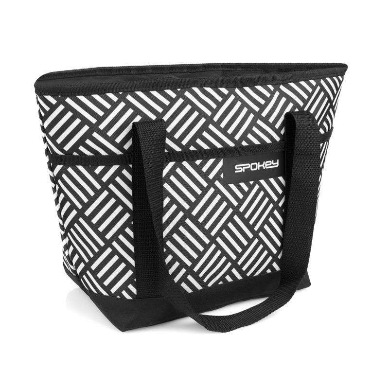 Plážová termo taška Acapulco malá zigzag černo-bílá