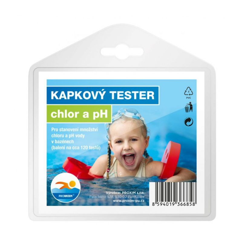 Kapkový tester DUKE CP chlor + PH