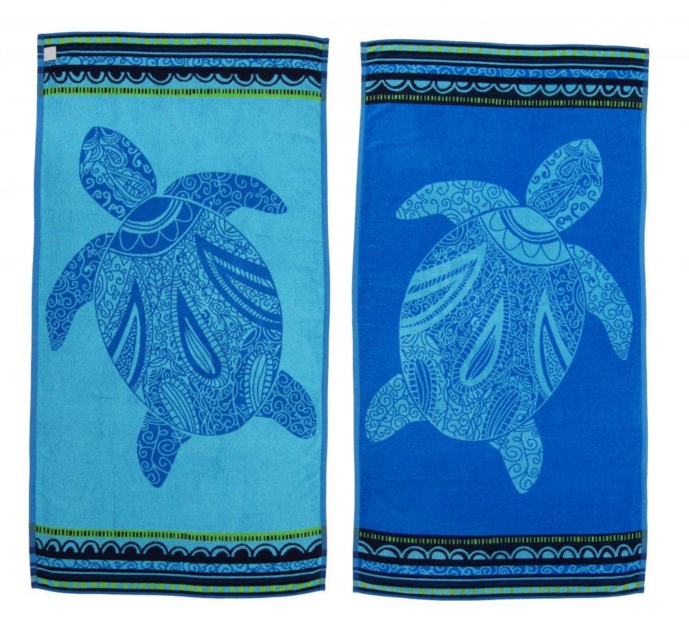 Oboustranná plážová osuška Sunflower Hawai Turtle modrá