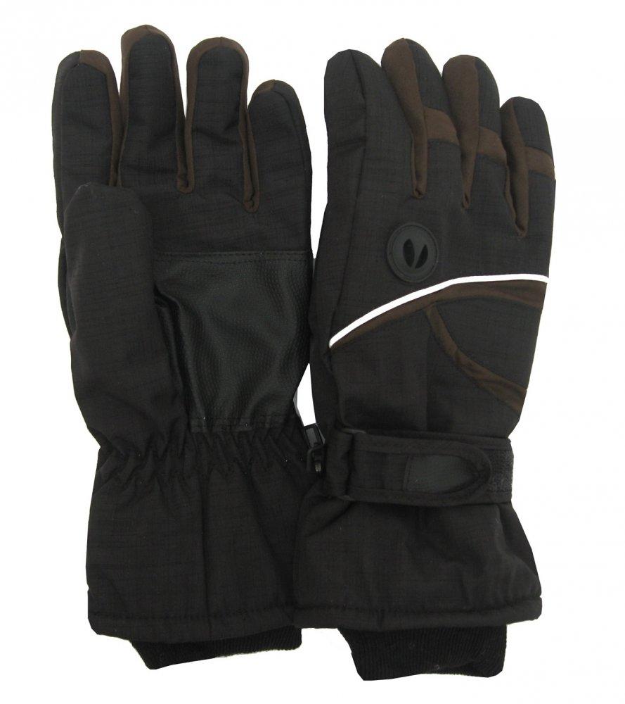 Pánské lyžařské rukavice Lucky A-51 hnědé
