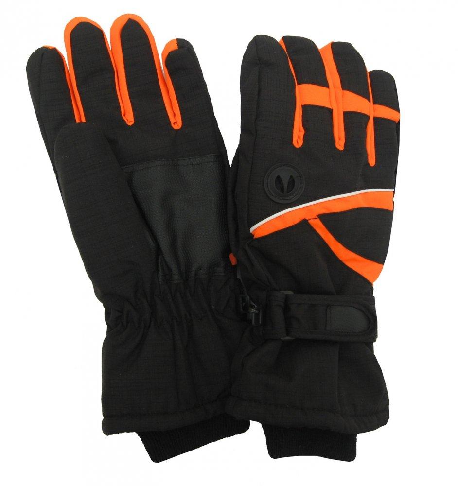 Pánské lyžařské rukavice Lucky A-51 oranžové