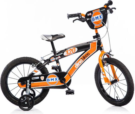 Dětské kolo Dino BMX 145XC černo-oranžové 14