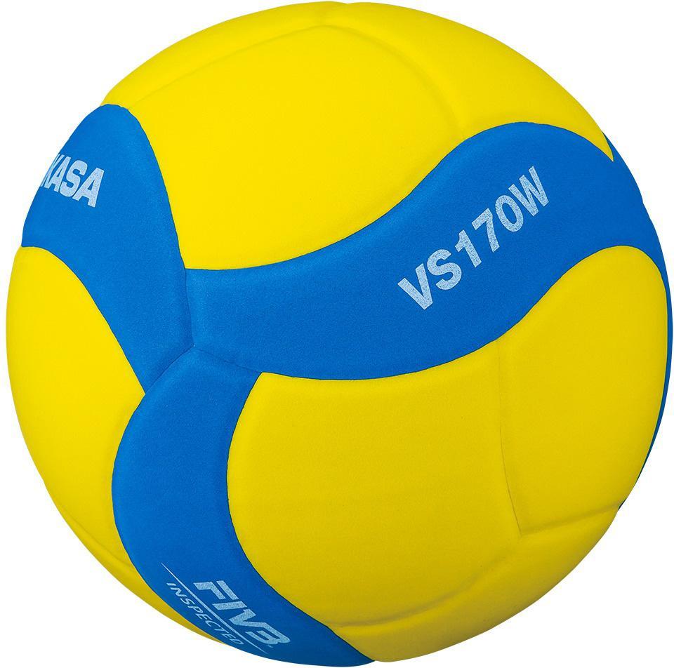 Volejbalový míč Mikasa VS170W modro/žlutý vel.5