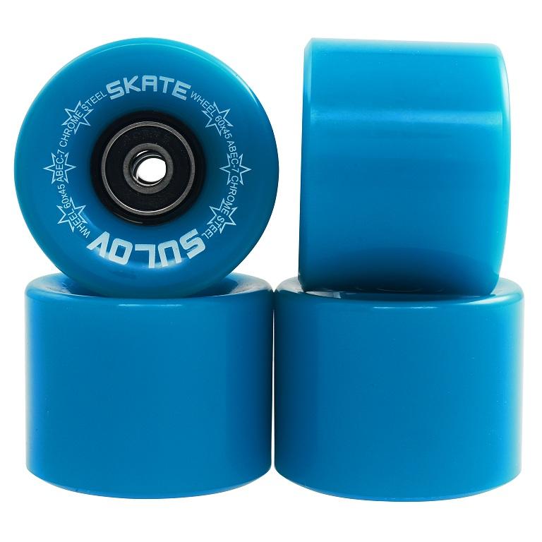 Kolečka Penny board Sulov Neon Blue 60x45mm, 4ks
