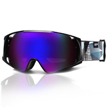 Lyžařské brýle Spokey Denny černo/šedo/bílé