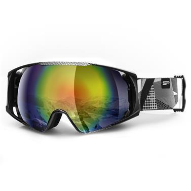 Lyžařské brýle Spokey Denny šedo/bílé