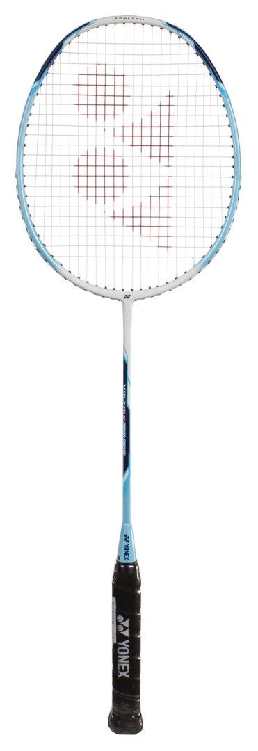 Badmintonová raketa Yonex Voltric Power Crunch bílo/modrá