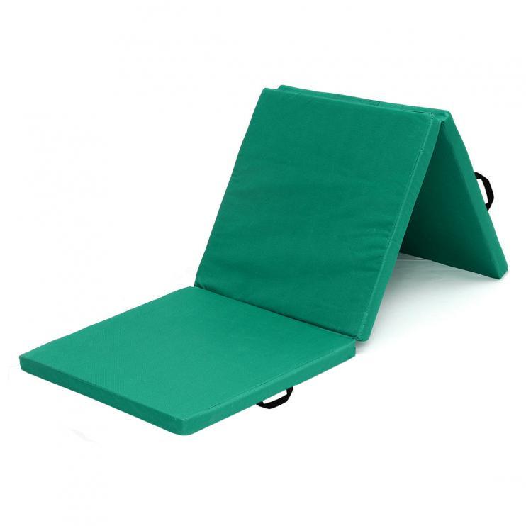 Žíněnka skládací třídílná Sedco 183x60x4cm zelená