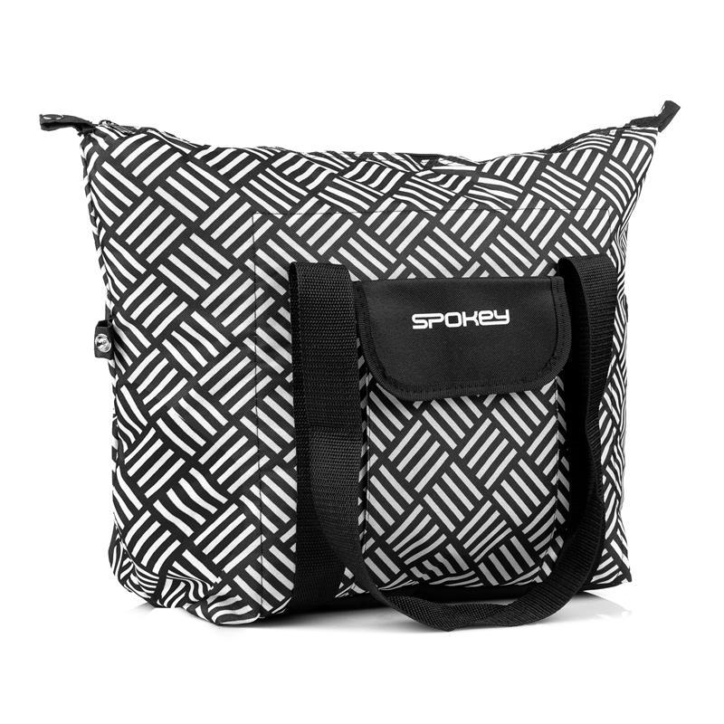 Plážová termo taška San Remo černo-bílá