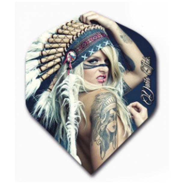 Letky Designa Darts Ink - Head Dress Girl F2486