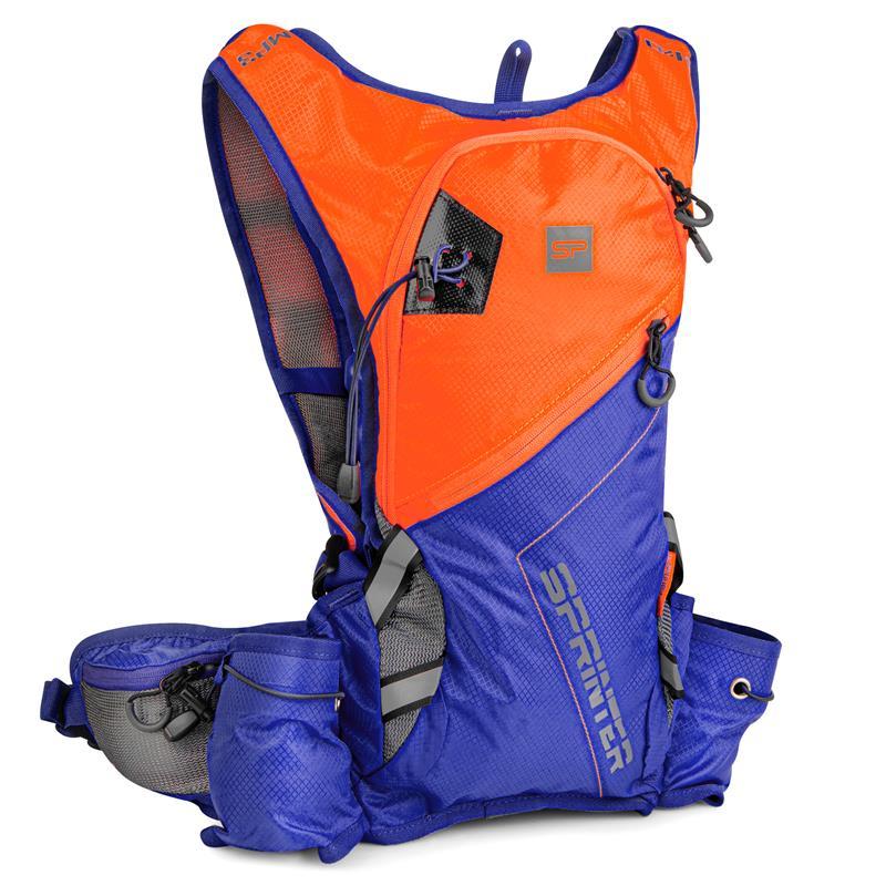 Cyklistický a běžecký batoh Spokey Sprinter oranžovo/modrý 5l