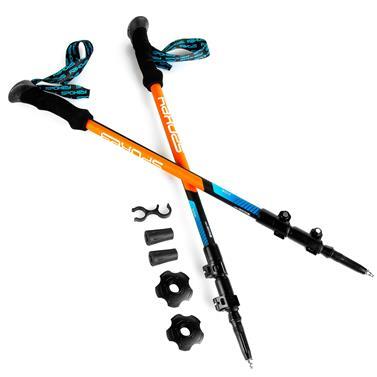 Trekingové hole 3-dílné Spokey Zion modro/oranžové