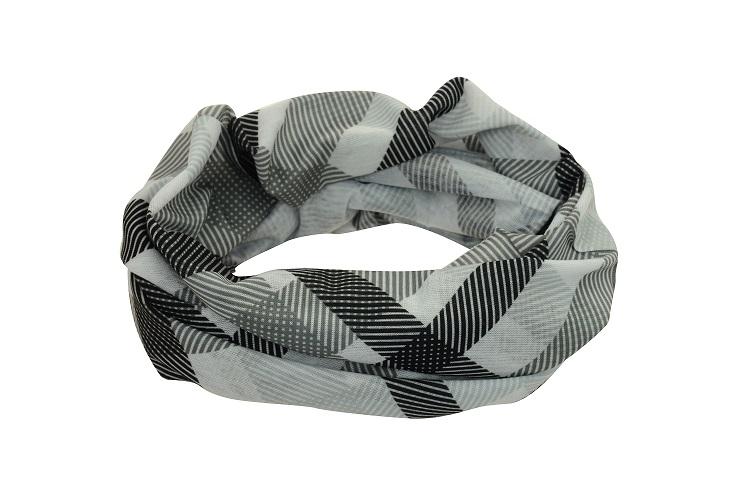 Sportovní šátek Sulov šedo-černý