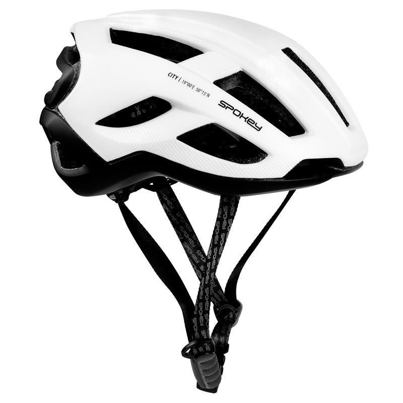 Cyklistická přilba pro dospělé a juniory Spokey City bílá 55-61cm