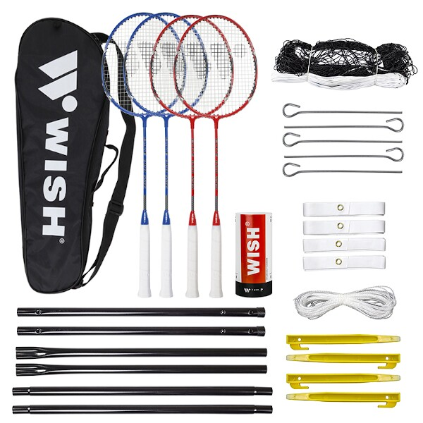 Sada na badminton Wish Alumtec 5566 červeno-modrá