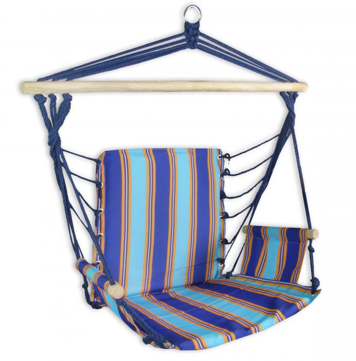Houpací křeslo Sedco Relax modro-oranžová 103x56cm