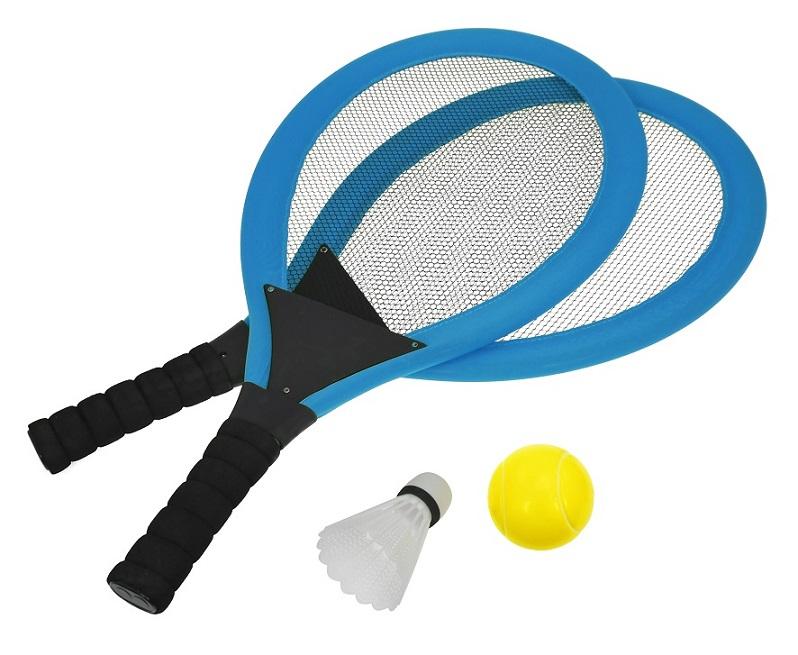 Set na plážové hry tenis/badminton modrá