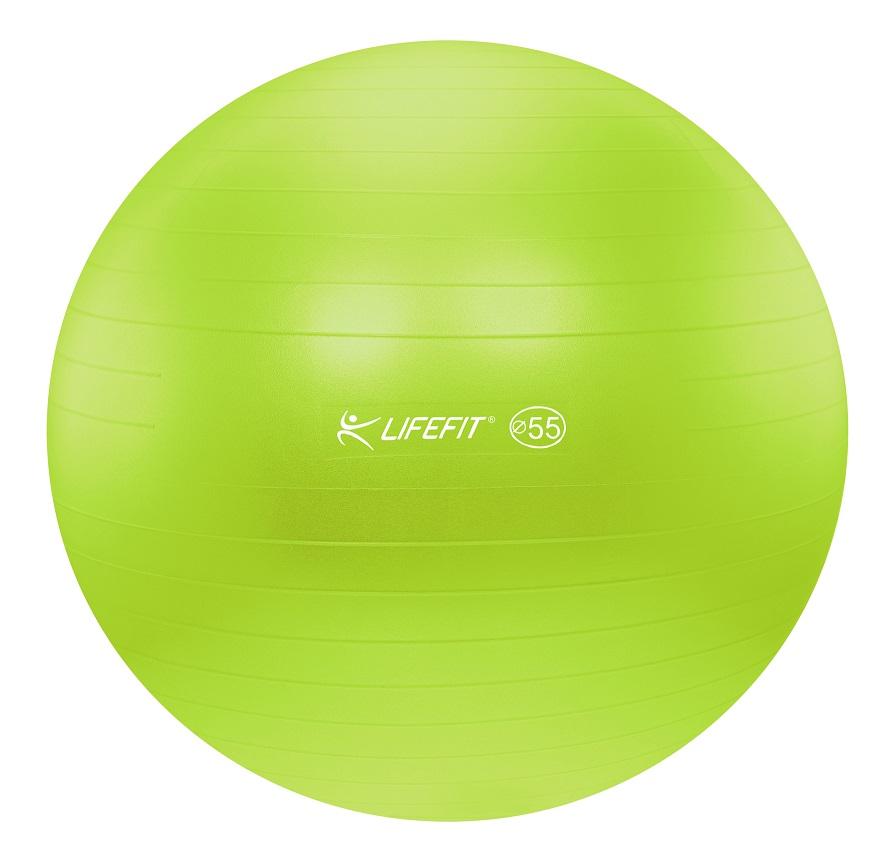 Gymnastický míč Lifefit Anti-Burst 55cm zelený