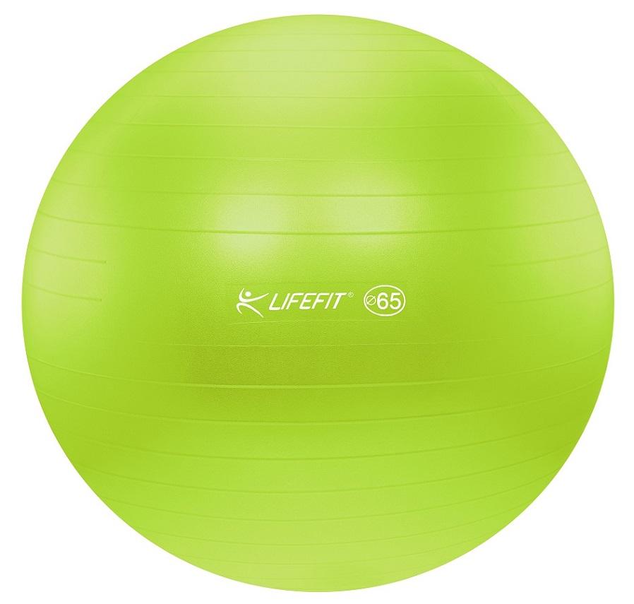 Gymnastický míč Lifefit Anti-Burst 65cm zelený