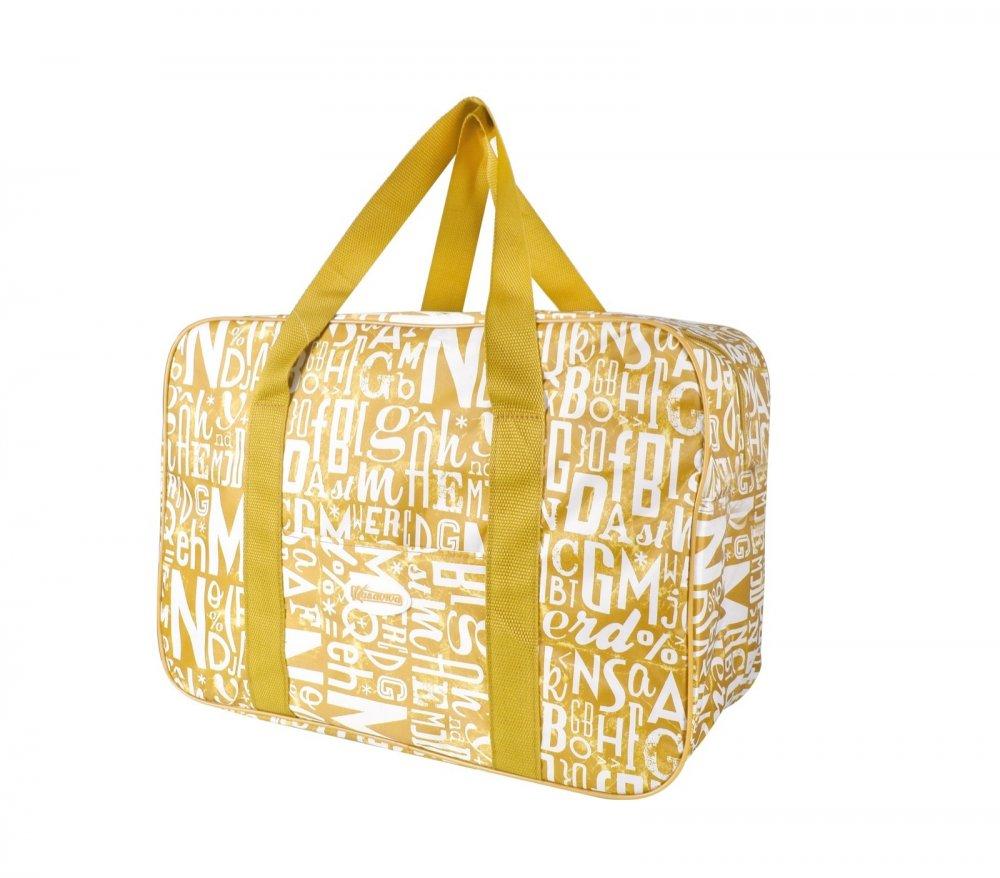 Plážová termotaška - chladící taška Kasaviva 7l žlutooranžová