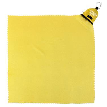 Rychleschnoucí ručník s karabinou Spokey Nemo 40x40cm žluto-zelený