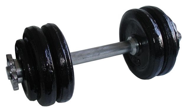 Jednoruční nakládací činka Acra - 14kg