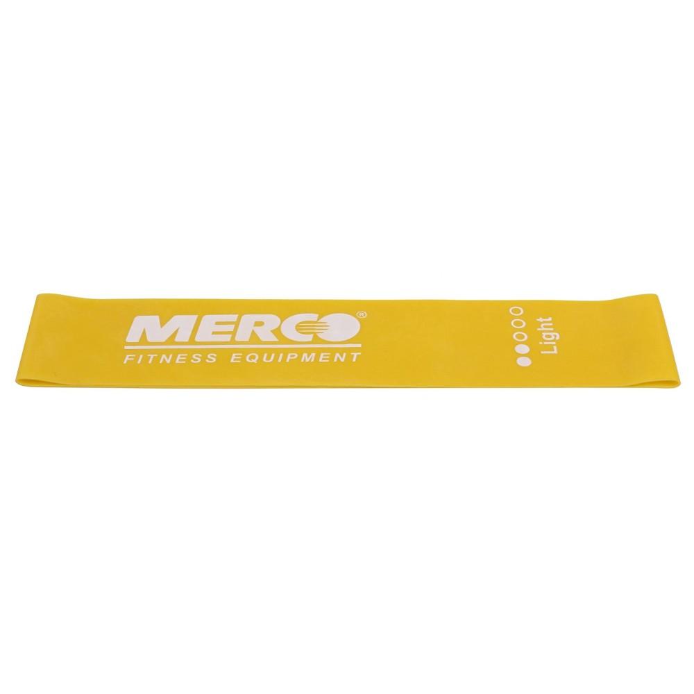 Posilovací guma Mini Band 50x5cm žlutá lehká