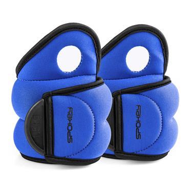 Závaží na zapěstí Spokey Com Form IV modré 2x1,5kg