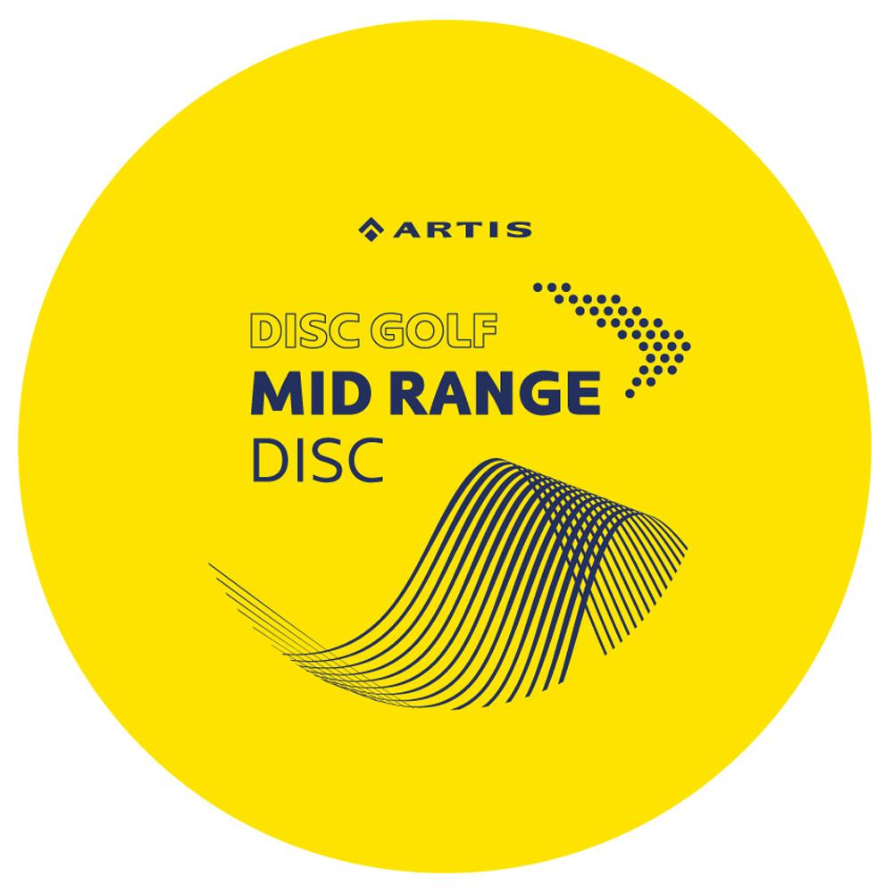 Disc Golf Mid Range Artis žlutý