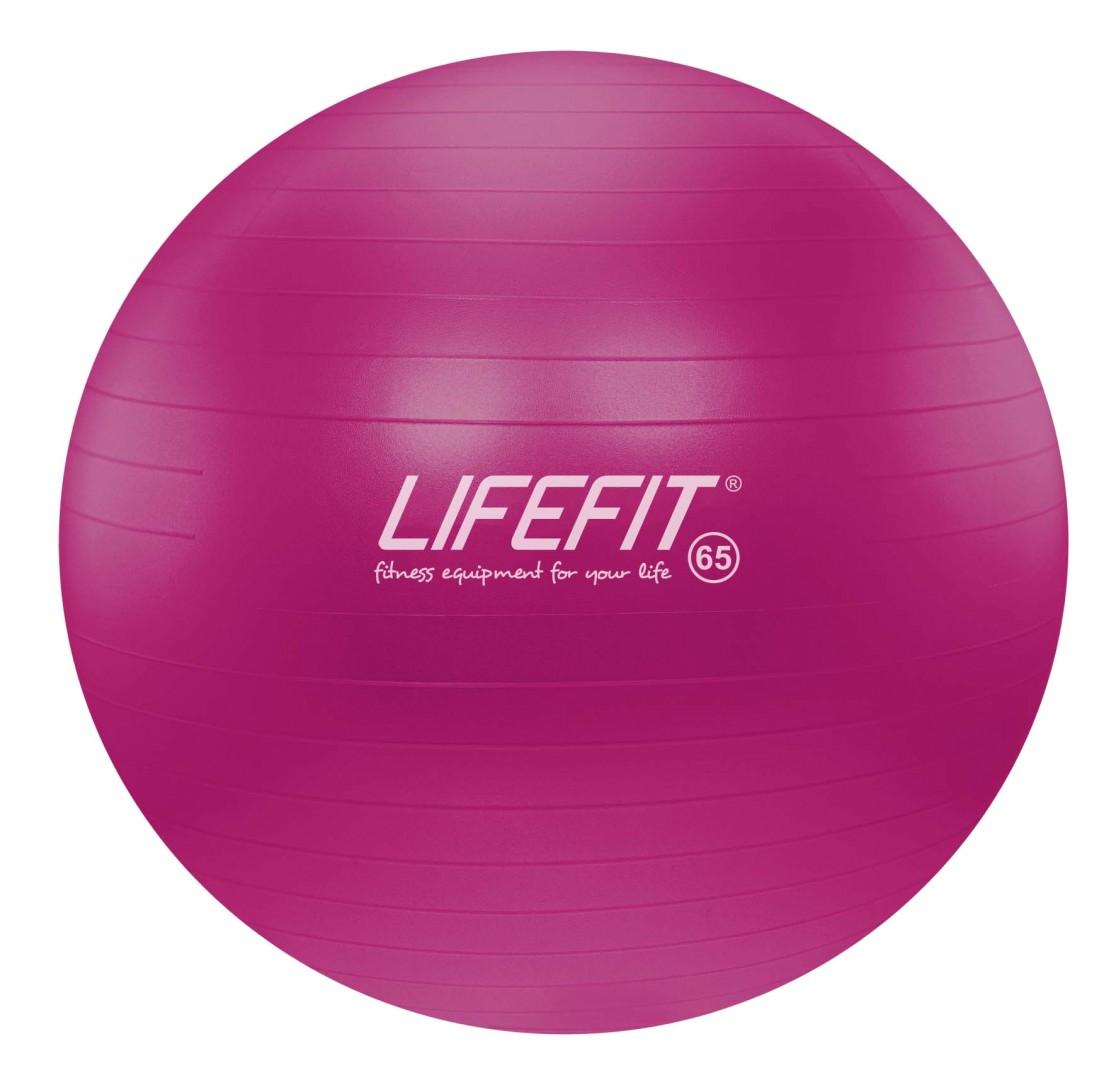 Gymnastický míč Lifefit Anti-Burst 65cm bordó