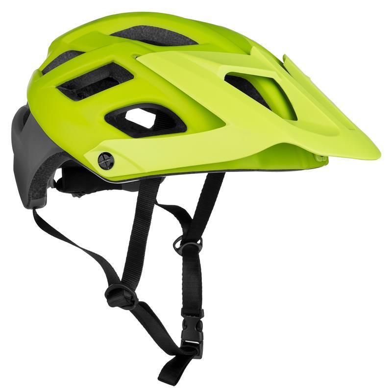 Cyklistická přilba Spokey Singletrail dospělé a juniory zelená 55-58cm