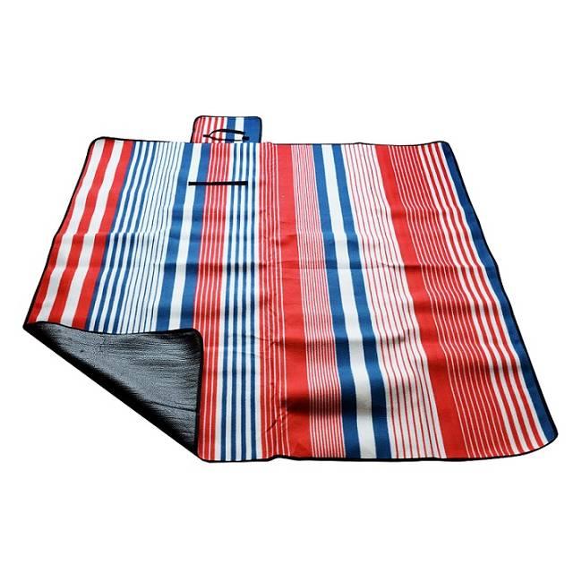Pikniková deka Calter Duos pruhy modro-červené 180x140cm