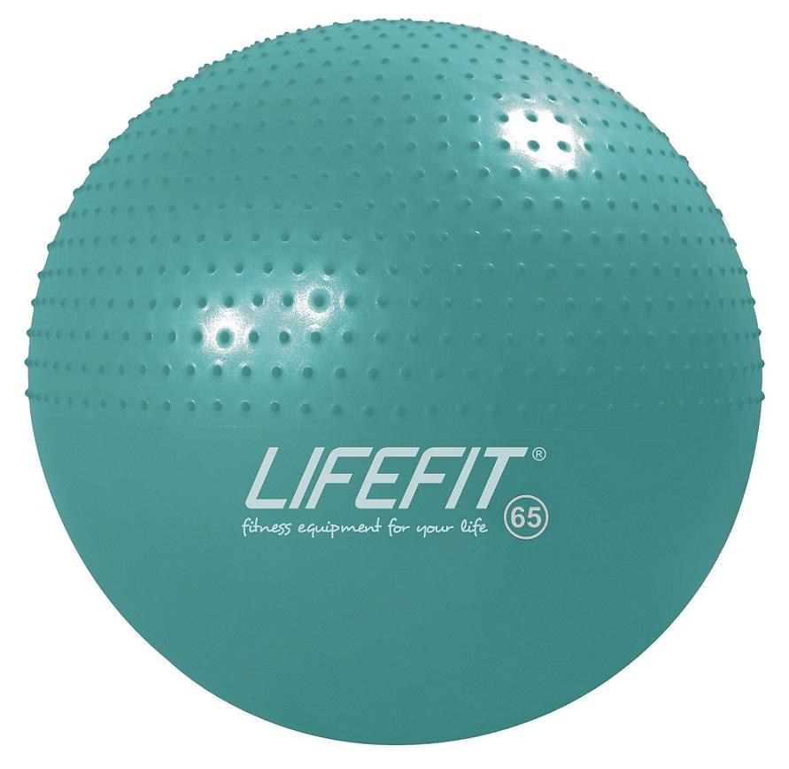 Gymnastický masážní míč Lifefit Massage Ball 65cm tyrkysový