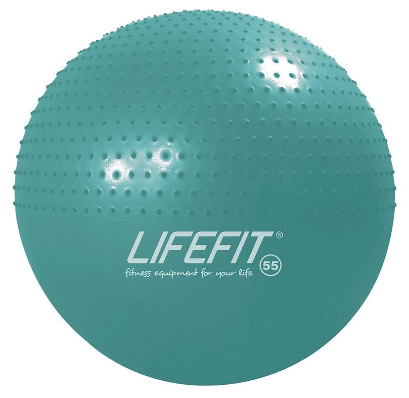 Gymnastický masážní míč Lifefit Massage Ball 55cm tyrkysový
