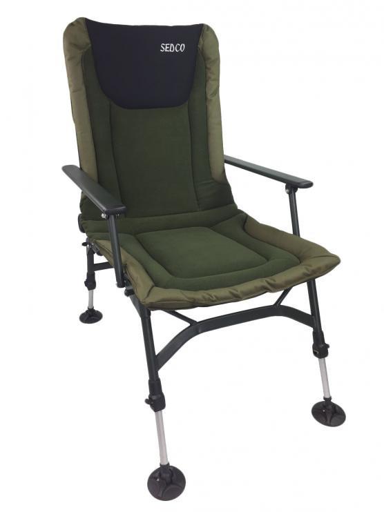 Rybářská židle s opěrkou Sedco Fishing Fleece FC005