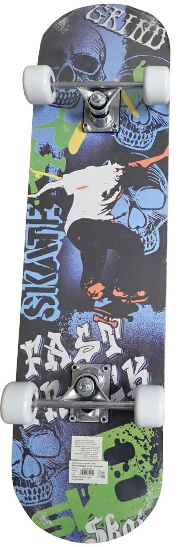 Skateboard sportovní s protismykem Acra Skate S3/1-ZE