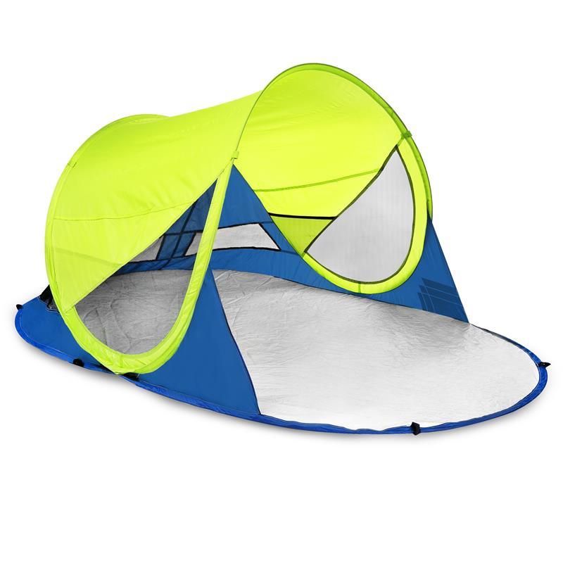 Samorozkládací outdoorový paravan UV 40 Spokey Stratus limetový