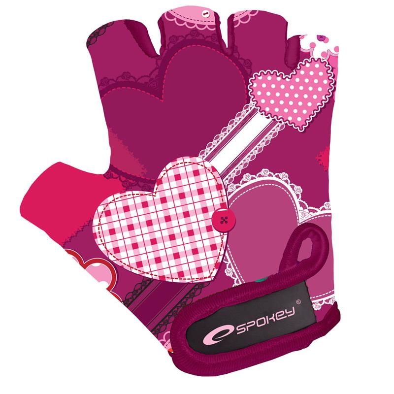 Dětské cyklistické rukavice Spokey Heart Glove vel.XS