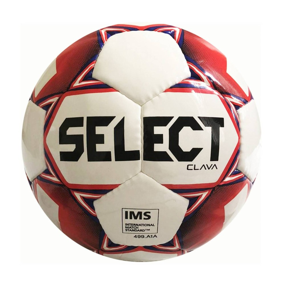 Fotbalový míč Select FB Clava bílo-červená vel.4