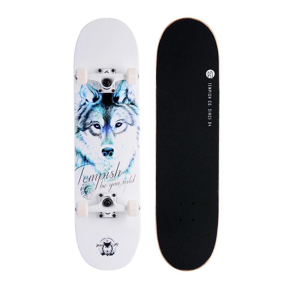 Skateboard Blue Wolf