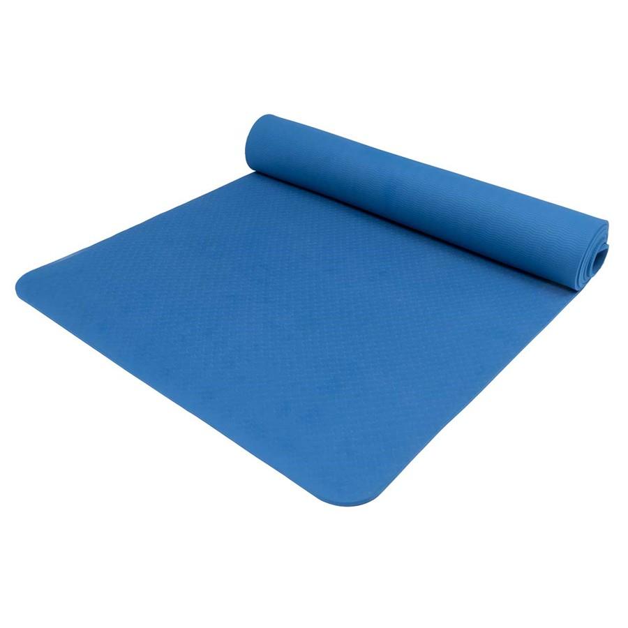 Karimatka Yate Yoga Mat TPE tm.modrá 195x61x0.6cm
