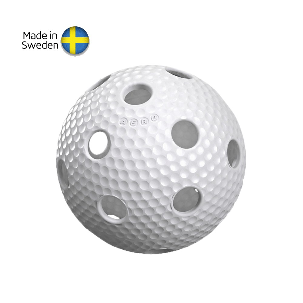 Florbalový míček Salming Aero Plus Ball white with dumples