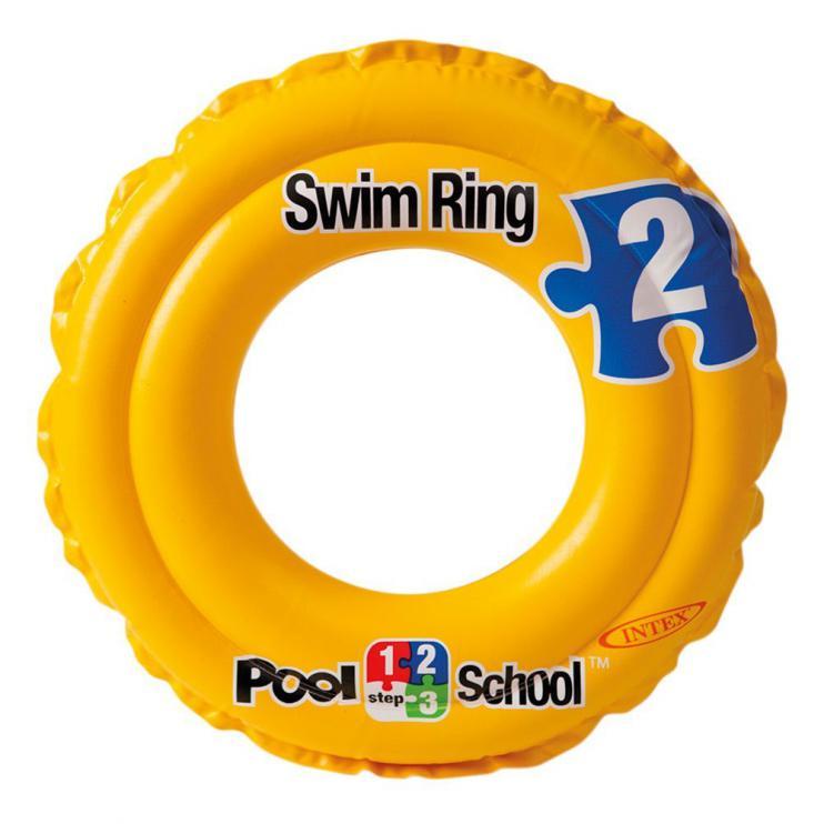 Plavecký kruh Intex Deluxe dvoukomorový 51cm