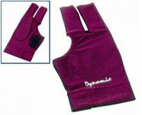 Kulečníková rukavice Dynamic burgundy 3-prstá
