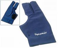 Kulečníková rukavice Dynamic modrá 3-prstá