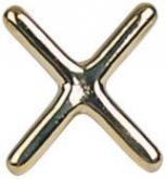 Můstek - podpěra tága mosazný kříž - Cross