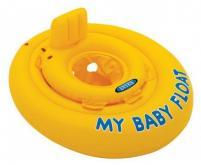 Dětský dvojitý kruh Intex My Baby Float žlutý 70cm