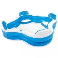 Nafukovací bazén Intex 56475  s opěradly 229x229x66cm