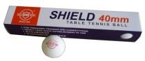 Míčky na stolní tenis Shield bezešvé 40 mm