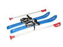 Dětské lyže Plastkon Baby Ski s vázáním - modré 90cm